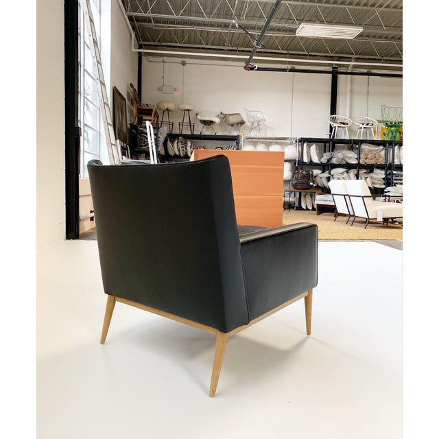 Black Paul McCobb for Directional Model 302 Lounge Chair in Loro Piana Bufalo Leather For Sale - Image 8 of 9