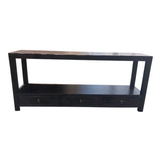 Asian Modern Chestnut Console Table