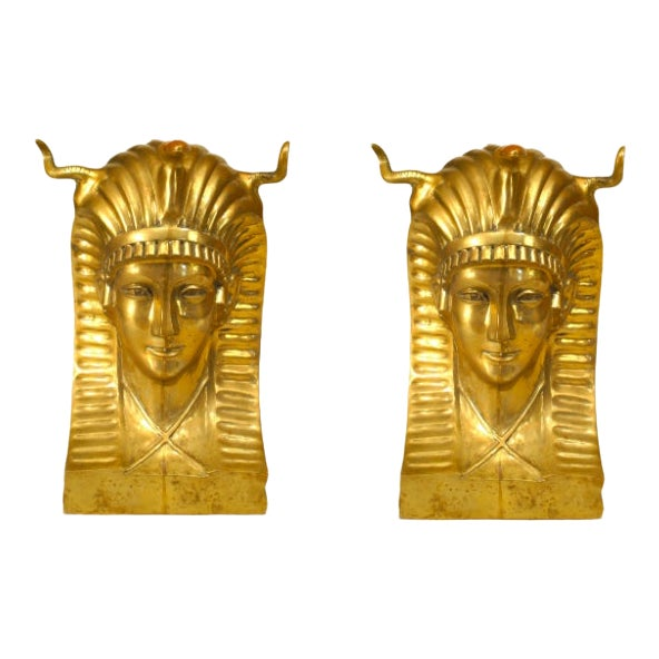 20th Century Egyptian Revival Pharaoh Dining Table Base For Sale