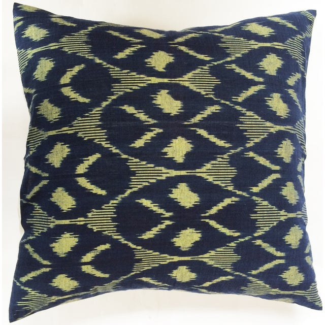 Indigo Ikat Pillow Cover - Image 2 of 3