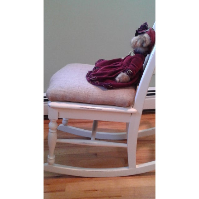 Hand Painted and Upholstered Rocking Chair - Image 4 of 5