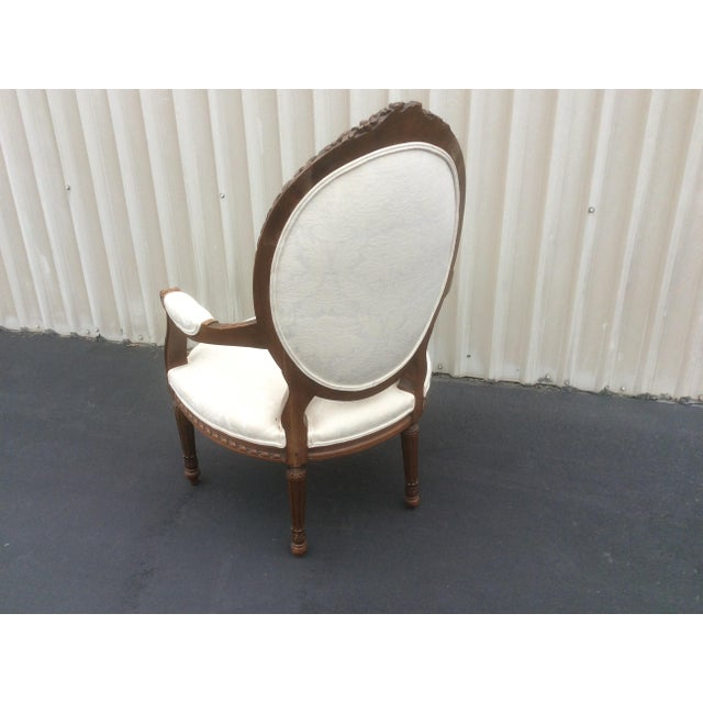 French Style Chair With Oval Back For Sale - Image 4 of 7