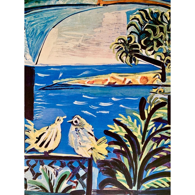 "Boho Chic 1994 Pablo Picasso ""Cannes A.M."" Lithographic Poster For Sale - Image 3 of 13"