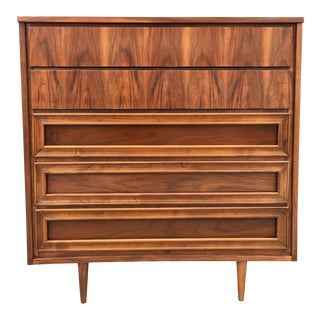 Mid-Century Modern Walnut Highboy For Sale