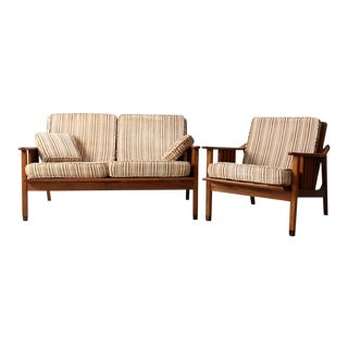 Mid-Century Stanley Loveseat and Chair - Set of 2 For Sale