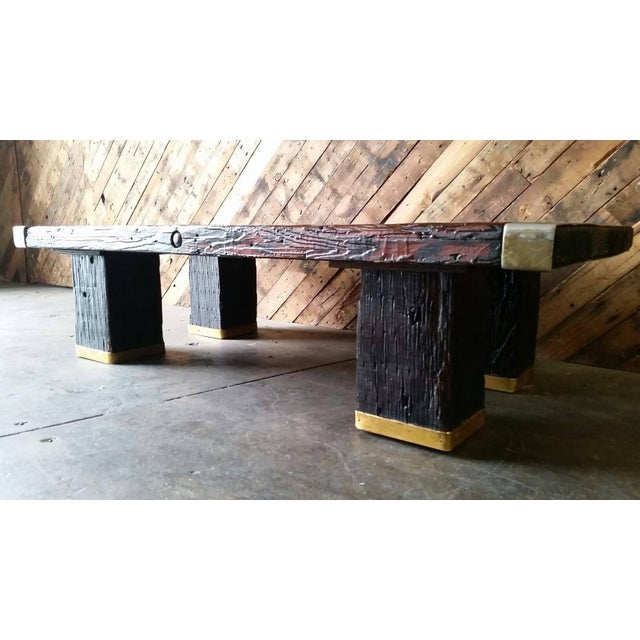 Old Door Coffee Tables For Sale: WWII Ship Hatch Door 1960s Coffee Table
