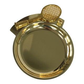 Brass Tennis Racket Pocket Change Dish