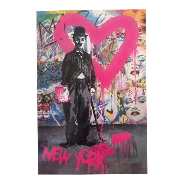 "Mr. Brainwash Original Lithograph Print Poster ""Charlie Chaplin Madonna"" For Sale"