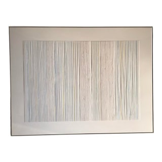 Mid 20th Century Minimalist Op Art Mixed-Media Artwork by Ruth Amelia Romoser, Framed For Sale
