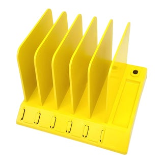 Electric Yellow Office Desk Organizer Mail Holder Sorter For Sale