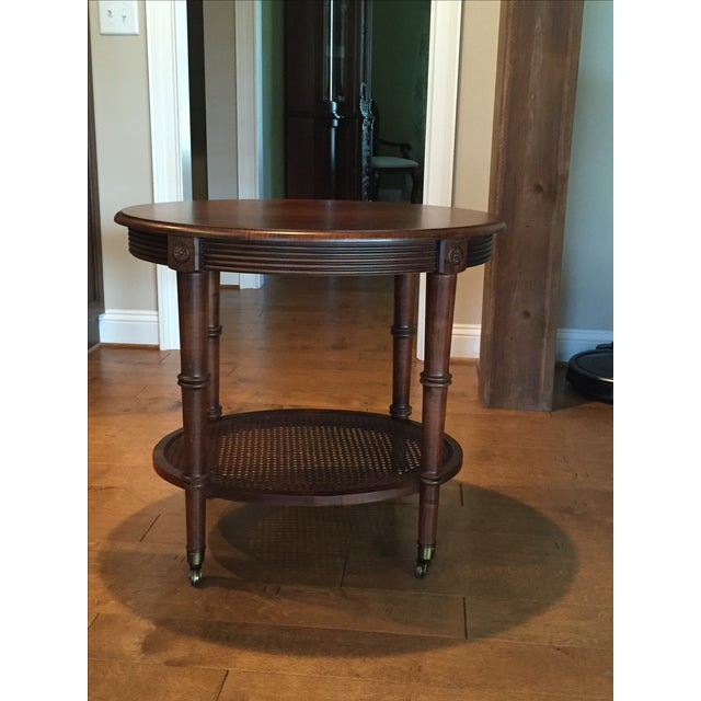 Oval Side Table by Ethan Allen - Image 2 of 4