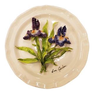 1980's Eva Gordon Ceramic Decorative Plate For Sale