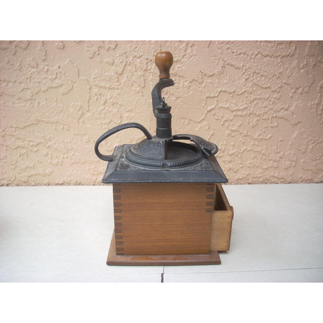 Antique Wood Coffee Mill - Image 5 of 5