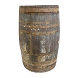 Image of Vintage Wood & Iron Barrel For Sale