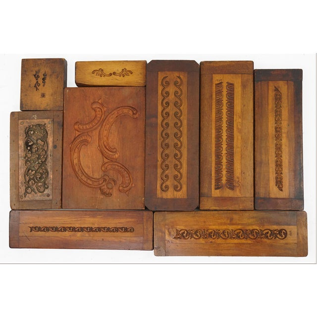 Late 19th Century Collection of 50 19th Century Carved Wood Molds for Castings For Sale - Image 5 of 5