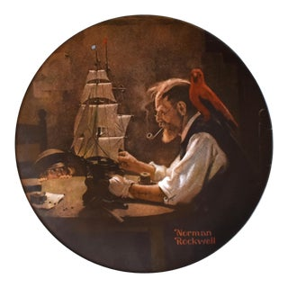 "Norman Rockwell ""The Shipbuilder"" Limited Edition Plate For Sale"