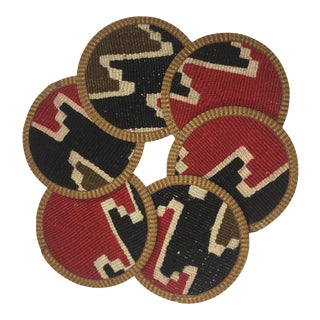 Rug & Relic Kilim Coasters Set of 6 | Sila For Sale