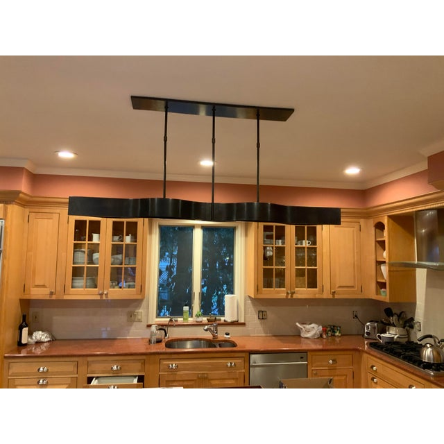 Visual Comfort Modern Linear Chandelier For Sale In New York - Image 6 of 6