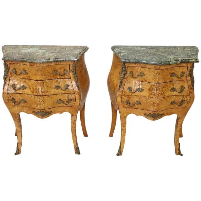20th Century Italian Venetian Louis XV Style in Wood Burl - a Pair For Sale