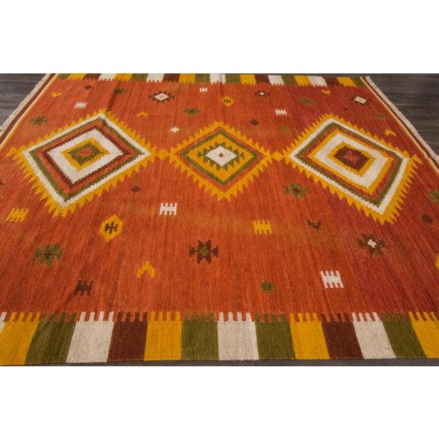 "Apadana - Modern Kilim Rug, 8'7"" x 9'9"" For Sale - Image 4 of 7"