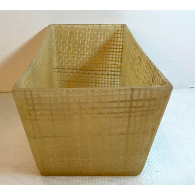 Mid 20th Century Vintage Mid Century Lucite and Twine Planter For Sale - Image 5 of 7