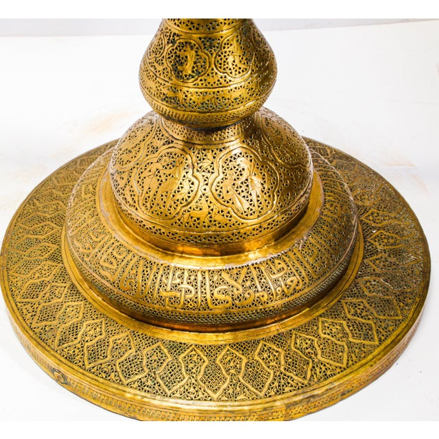 19th Century Antique Syrian Brass Dining Table Base For Sale - Image 9 of 13