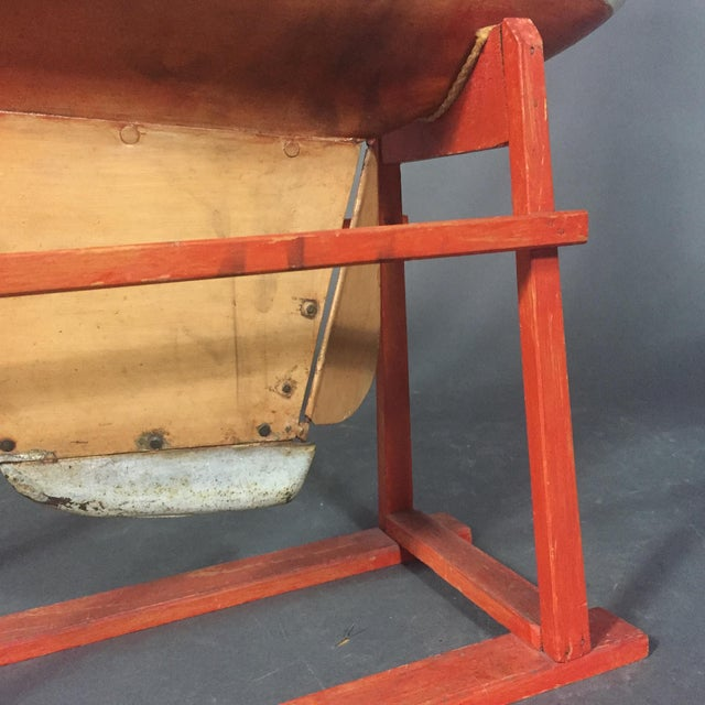 White Late 19th Century Tin Pond Sailboat on Stand For Sale - Image 8 of 11