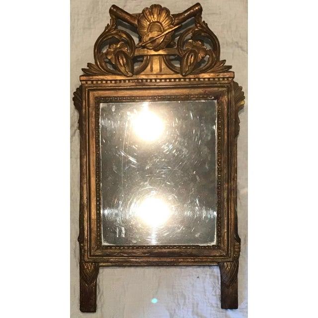 Petite Louis XVI Gilt Wood Mirror