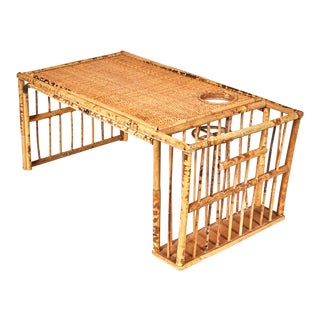Burnt Bamboo Bedroom Serving Tray For Sale