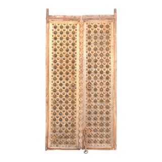 18th Century Anglo Raj Carved Palace Doors For Sale