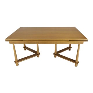 Robsjohn-Gibbings for Widdicomb Refectory Walnut Tapered Legged Dining Table For Sale