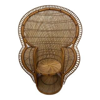 Rattan Cobra Peacock Chair For Sale