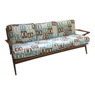 Mid-Century Modern Angela Adams Linen Fabric Sofa