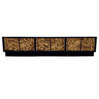 Credenza Carved Gold Leaf Front For Sale
