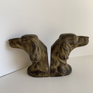 Classic Dog Head Bookends or Door Stops, a Pair Preview