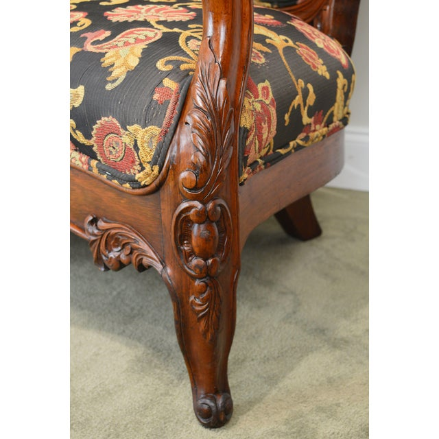 Rococo Revival Fine Carved Rosewood Sofa For Sale - Image 11 of 13
