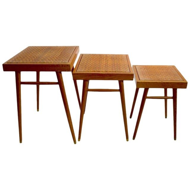 Pair of Nesting Stacking Tables For Sale