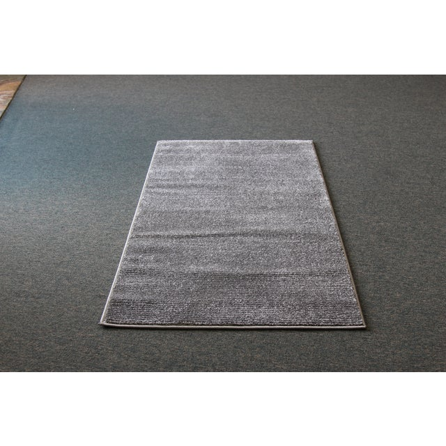 Gray Stripe Rug - 3′ × 5′ - Image 2 of 4