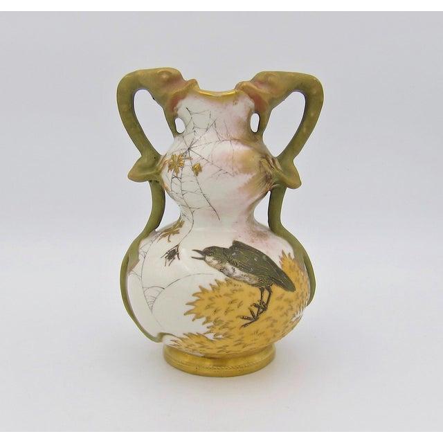 Late 19th Century Austrian Art Nouveau Amphora RStK Ivory Porcelain Vase With Dragon Handles For Sale - Image 13 of 13