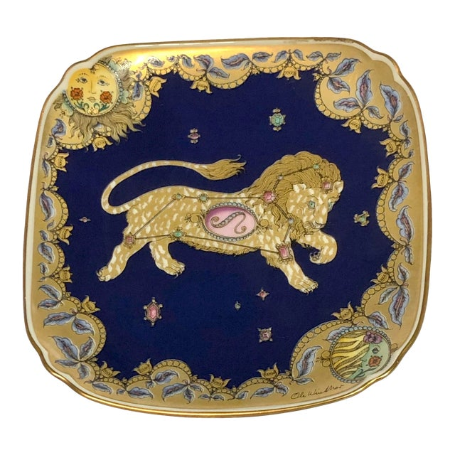 Leo Zodiac Porcelain Plate For Sale