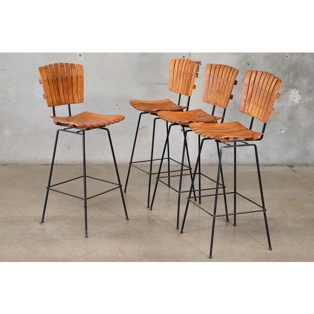 Arthur Umanoff Bar Stools- Set of 4 - Image 2 of 6