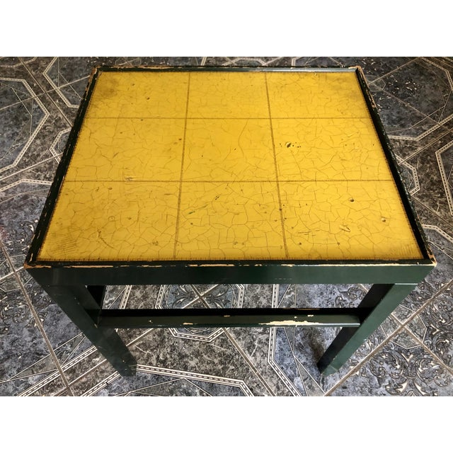 Modern 20th Century Rustic Kittinger Modern Painted Side Table For Sale - Image 3 of 11