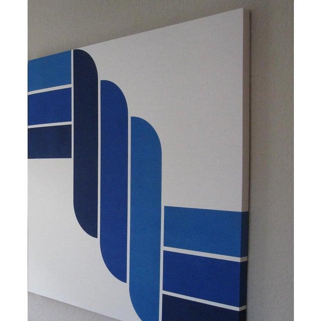 Mid-Century Modern Blue Rope Gallery Wrap Print - Image 3 of 3