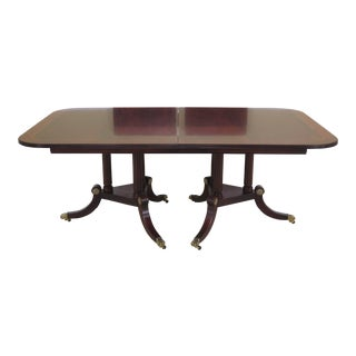 1990s Traditional Henkel Harris Figural Mahogany Dining Room Table For Sale