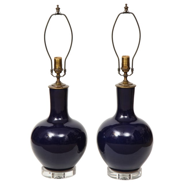Chinese Vase Lamps - A Pair For Sale - Image 9 of 9