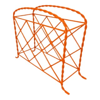 Orange Wrought Iron Wine Rack For Sale