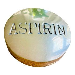 Vintage Brass Aspirin Pill Box For Sale