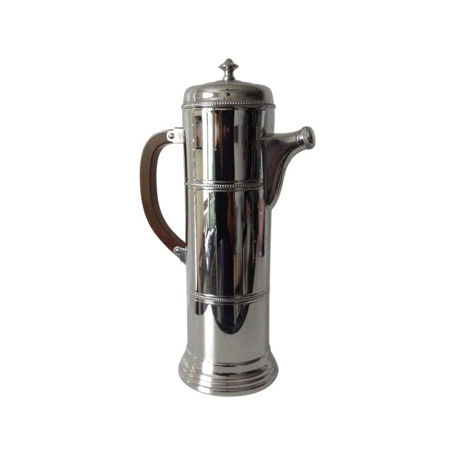 Mid-Century Cocktail, Martini Shaker With Bakelite Handle -Final Markdown For Sale