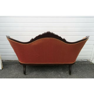Late 1800s Victorian Hand Carved Loveseat Settee Sofa Couch Preview
