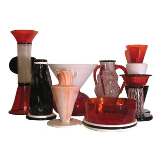 Vintage Vistosi Sixties Vases - 8 Pieces For Sale